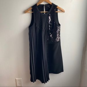 NWOT TOPSHOP black pleated sequin dress